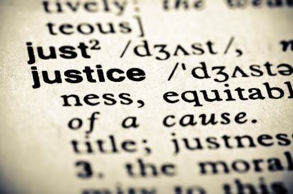 Dictionary entry of the words just and justice