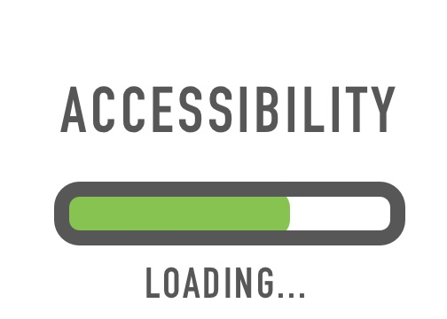 Text accessibility loading with an image of status bar